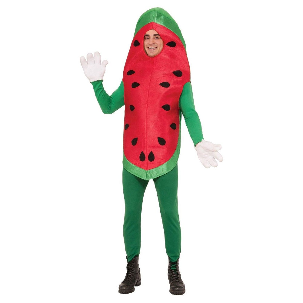 Image of Halloween Adult Watermelon Costume One Size, Adult Unisex, Red
