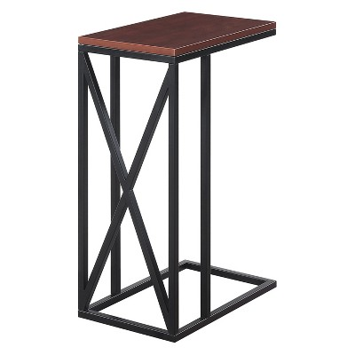 Tucson C End Table Cherry/Black - Johar Furniture