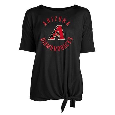 MLB Arizona Diamondbacks Women's Poly Rayon Front Knot T-Shirt