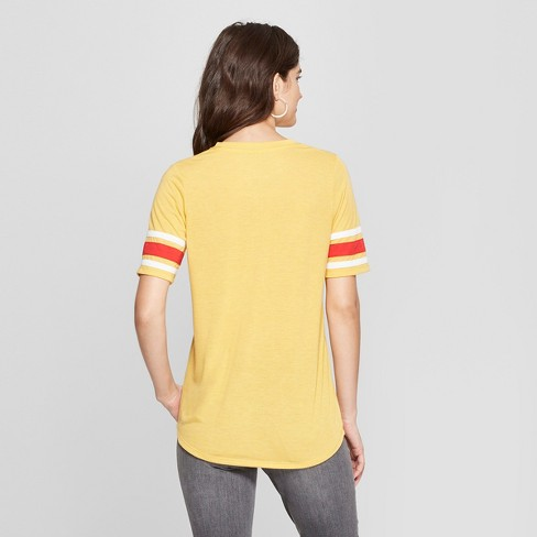 82799f9a Women's Short Sleeve Good Vibes Society Graphic T-Shirt - Mighty Fine  (Juniors') Mustard
