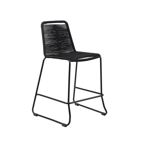 """Shasta 26"""" Outdoor Metal and Rope Stackable Counter Stool - Armen Living - image 1 of 4"""