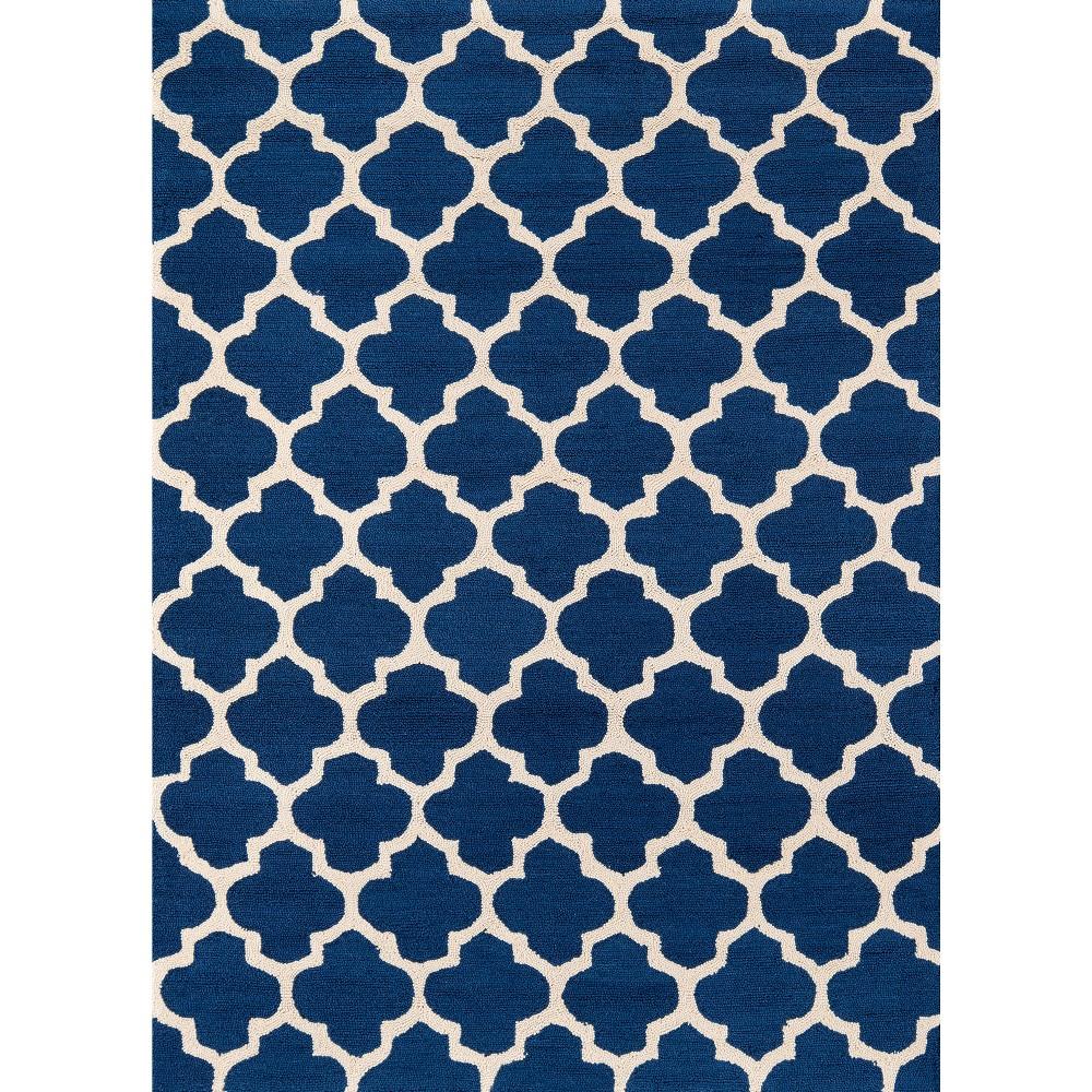 """7'6""""X9'6"""" Geometric Area Rug Navy - Momeni Product Image"""