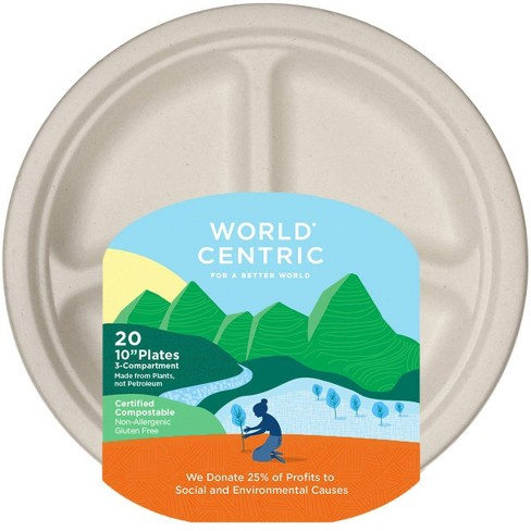 """World Centric 10"""" Disposable Plates - 20ct - image 1 of 1"""