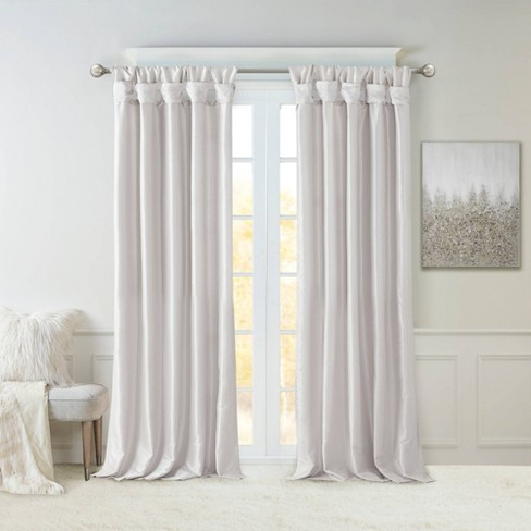 Lillian Twisted Tab Light Filtering Lined Curtain Panel - image 1 of 4