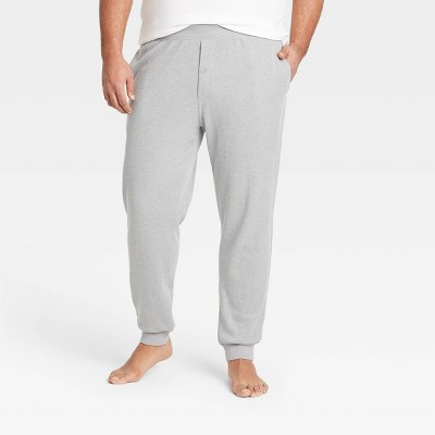 Men's Big & Tall Regular Fit Knit Jogger Pajama Pants - Goodfellow & Co™ Dark Gray