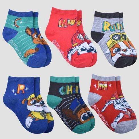 Boys' PAW Patrol 6pk Socks - S/M - image 1 of 1