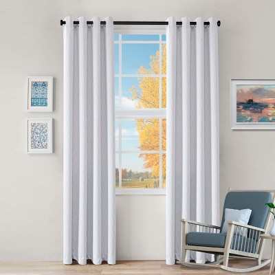 Textured Wave Thermal Room Darkening Blackout Grommet Curtain Panels by Blue Nile Mills