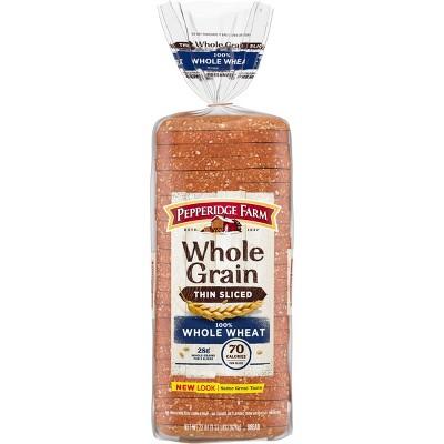 Pepperidge Farm 100% Whole Wheat Thin Sliced Bread - 22oz