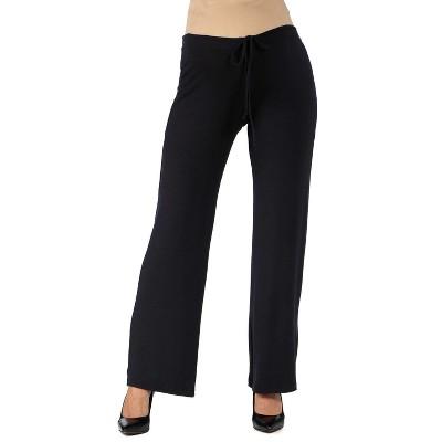 24seven Comfort Apparel Women's Maternity Drawstring Lounge Pants