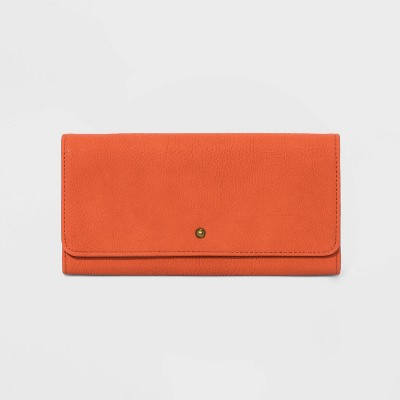 Trifold Snap Closure Clutch - Universal Thread™ Orange