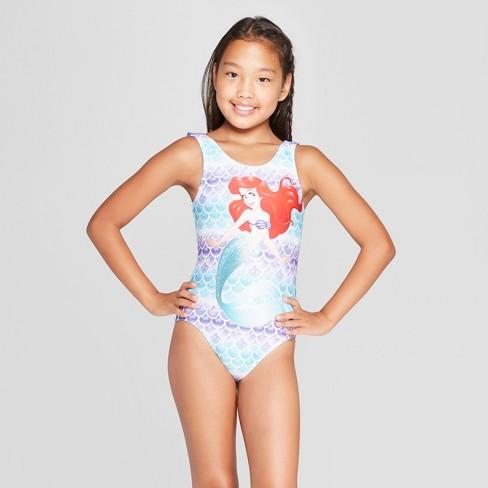 fd587e00ae Girls  Ariel One Piece Swimsuit - Purple. Shop all Disney Princess