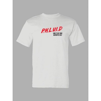 PH by The PHLUID Project Gender Inclusive Crewneck T-Shirt - Bright White
