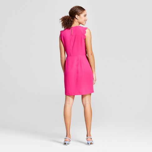 25acf2592ddf Women s Scallop Sleeve Crepe Dress - A New Day™ Pink   Target