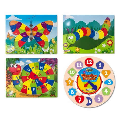 Creative Kids 4ct Wooden Learning Puzzles - image 1 of 4