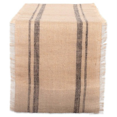 Jute Double Border Burlap Table Runner - Design Imports