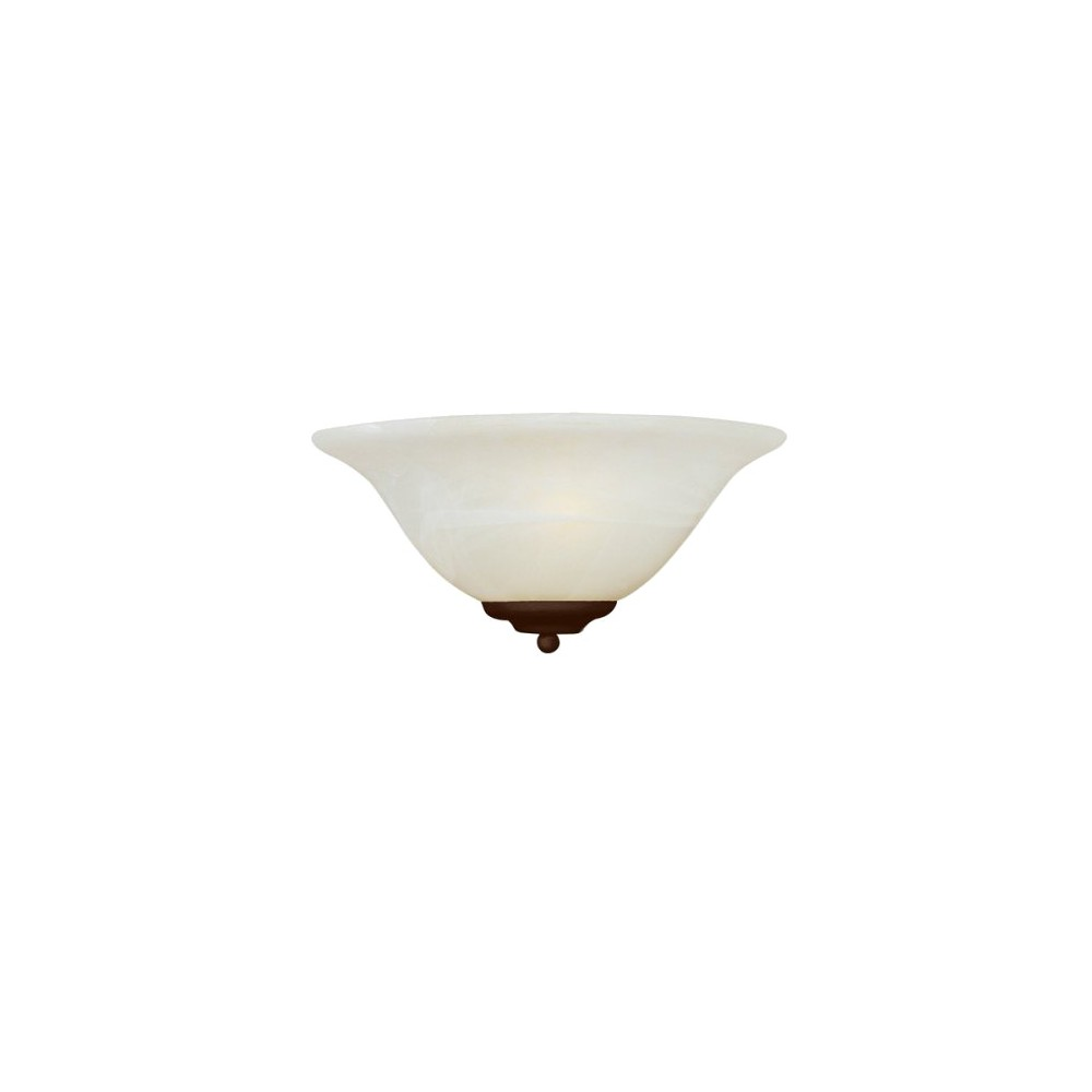 Image of Casual Bronze 1-Bulb Wall Sconce - Marble Shade