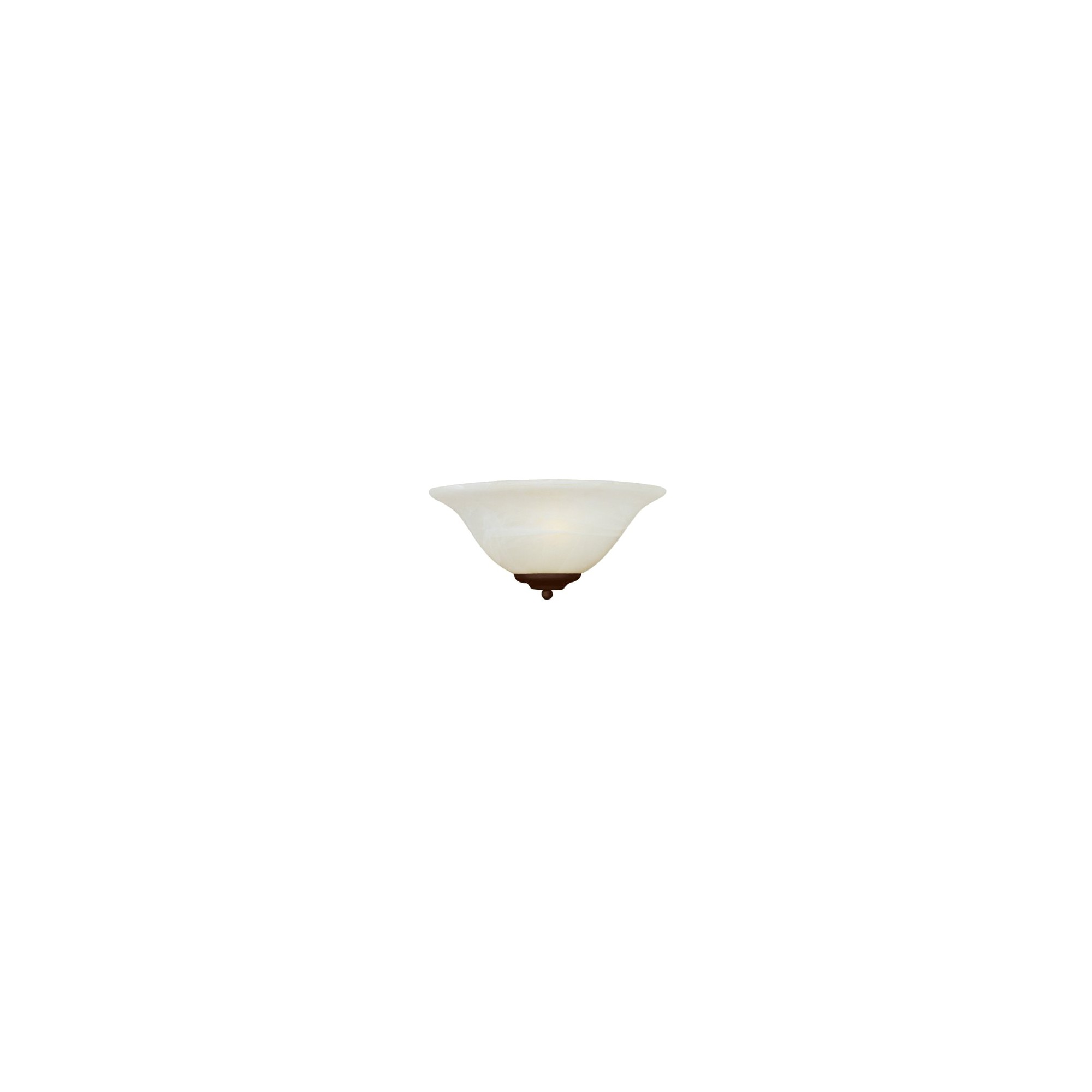 Casual Bronze 1-Bulb Wall Sconce - Marble Shade