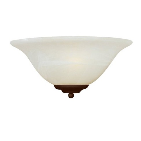 Casual Bronze 1Bulb Wall Sconce  Marble Shade - image 1 of 1