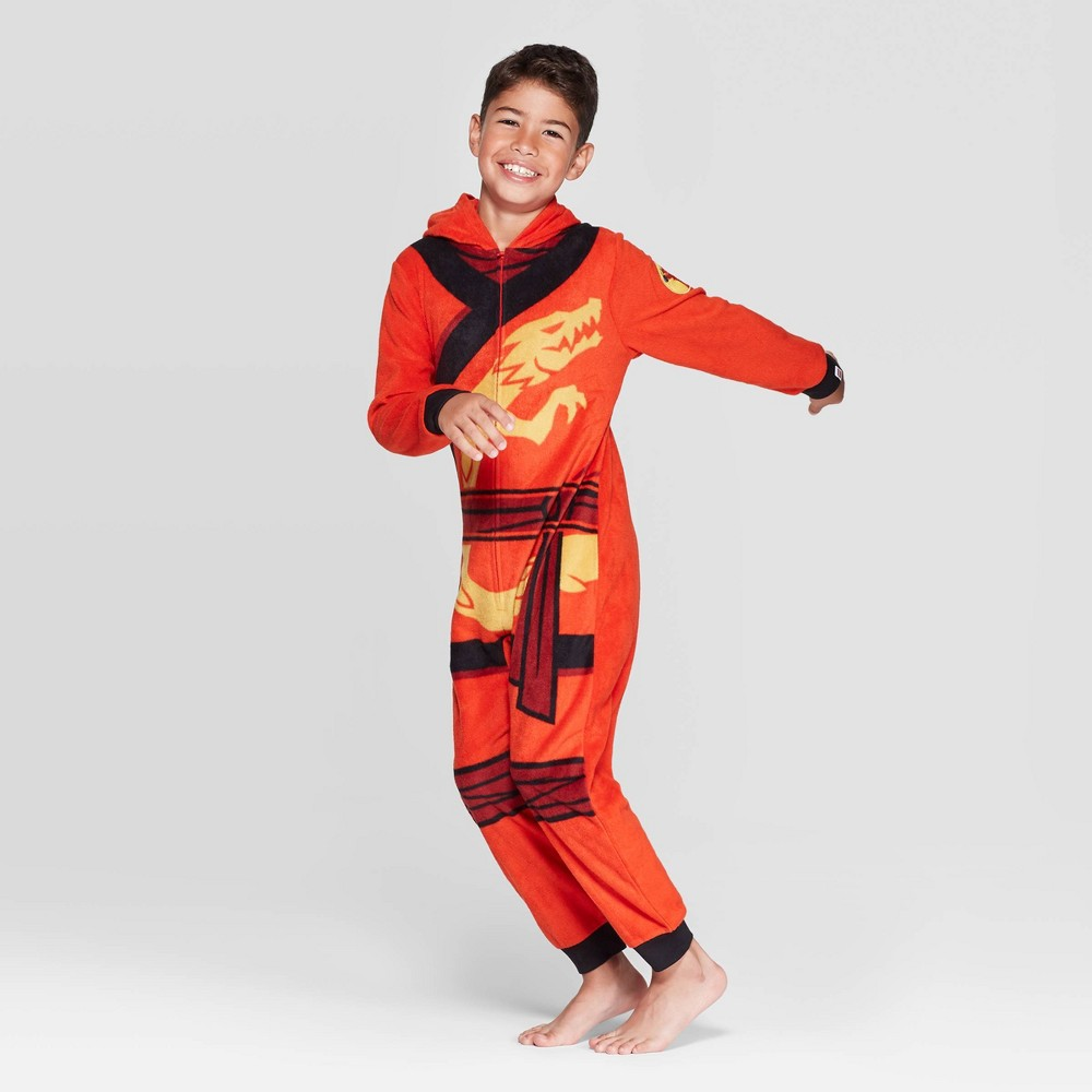 Image of Boys' LEGO Ninjago Union Suit - Red 8, Boy's