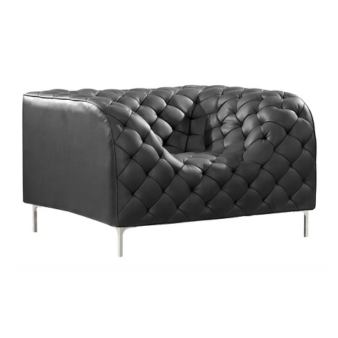 Modern Low Profile Tufted Arm Chair - ZM Home - image 1 of 5