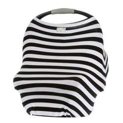 Itzy Ritzy Mom Boss 4in1 Nursing Cover - Black/White Stripe