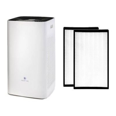 Medify Air MA-112 V2.0 Portable Large Room Home Air Purifier with True HEPA Filter and MA-112 Replacement Filter Set (1 Pair)