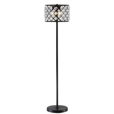 "60"" Crystal/Metal Elizabeth Floor Lamp (Includes Energy Efficient Light Bulb) - JONATHAN Y"