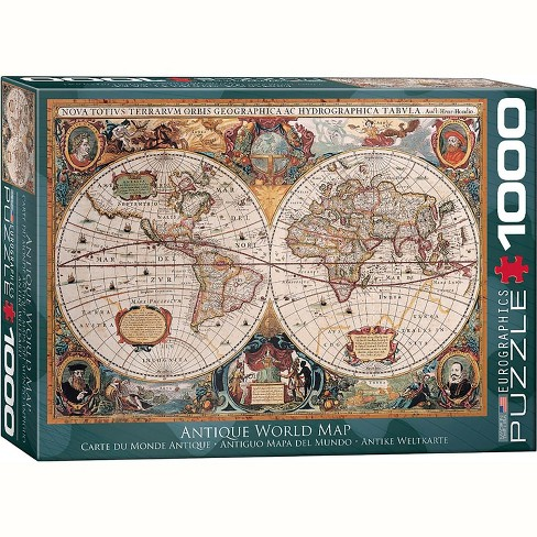 Eurographics Inc. Antique World Map (Orbis Geographica) 1000 Piece Jigsaw Puzzle - image 1 of 4