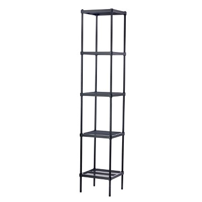 "Design Ideas MeshWorks Steel Storage Shelving Unit – Tower 13.8"" x 13.8"" x 70.9"""