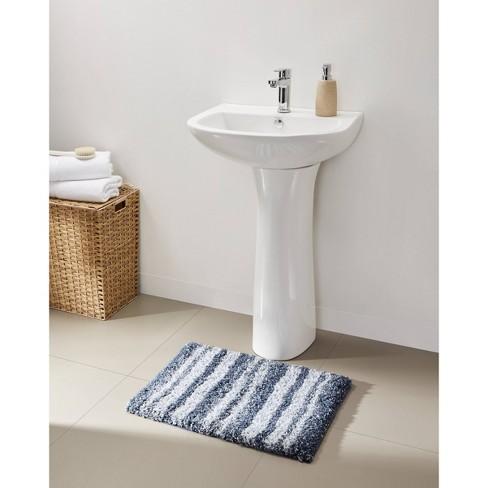 "17""x24"" Striped Plush Bath Rug - VCNY - image 1 of 4"