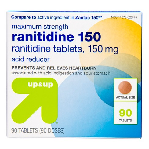 Ranitidine 150mg Maximum Strength Acid Reducer Tablets - 90ct - Up&Up™ - image 1 of 6