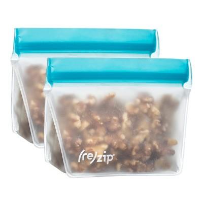 (re)zip® Leak-Proof Lay Flat Aqua Lunch Bag - 2pk