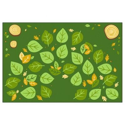 6'x9' Rectangle Woven Nylon Area Rug Green - Flagship Carpets