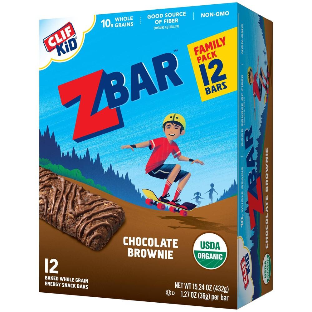 Clif Kid Zbar Organic Chocolate Brownie Snack Bars 12ct