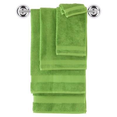 6pc Amadeus Turkish Bath Towel Set Green - Makroteks