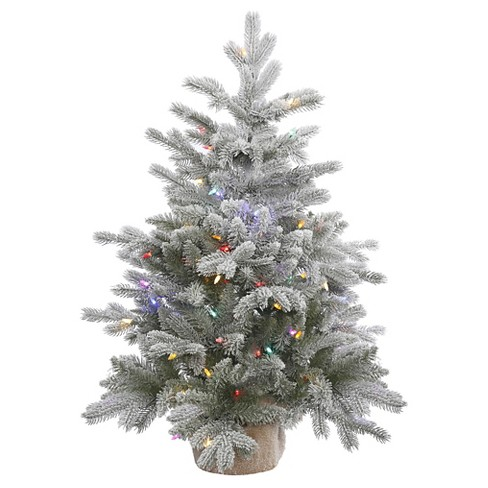 About this item - 3ft Pre-Lit White Flocked Pine Artificial Christmas : Target