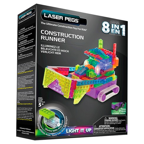 Laser Pegs 8 in 1 Construction Runner Lighted Construction Toy - image 1 of 4