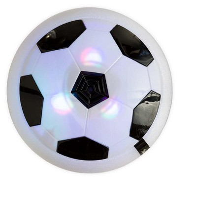 "HearthSong 7"" Diam. Rubber-Rimmed Light-Up Air Hover Soccer Disc for Indoor and Outdoor Play"