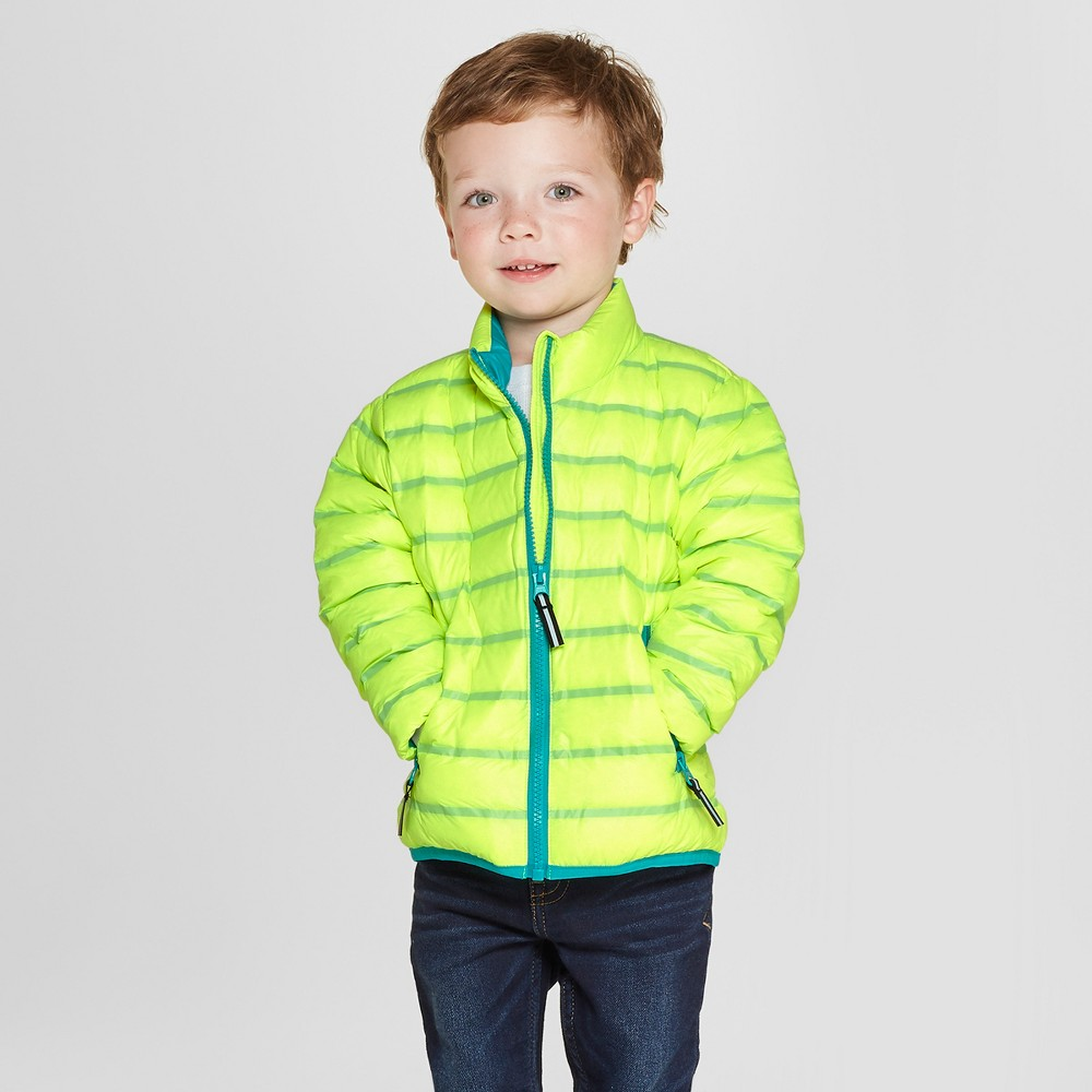 Toddler Boys' Down Puffer Jacket - Cat & Jack Yellow 4T