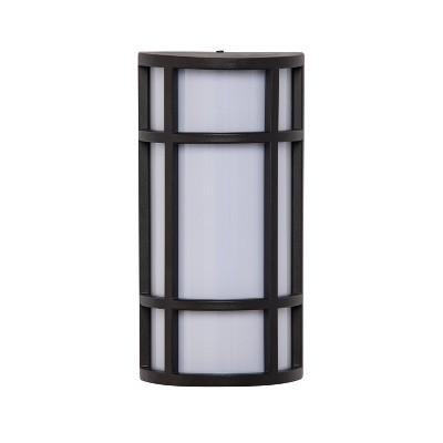 "12"" Raston Outdoor Sconce Lamp Black/White (Includes Energy Efficient Light Bulb) - Aiden Lane"