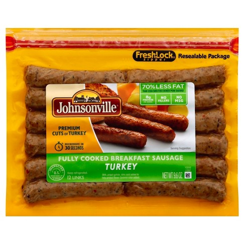 Johnsonville® Fully Cooked Turkey Sausage Links - 12ct/9.6oz - image 1 of 3