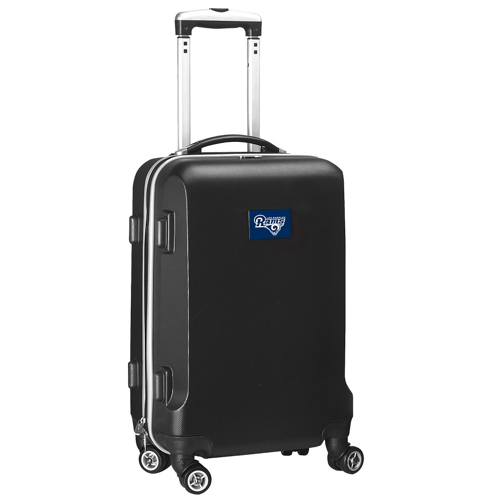 NFL Los Angeles Rams Mojo Hardcase Spinner Carry On Suitcase - Black
