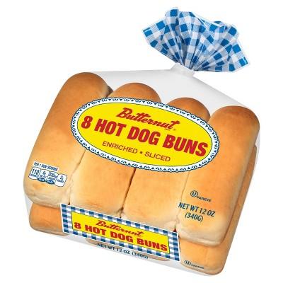 Butternut Hot Dog Buns - 12oz/8ct