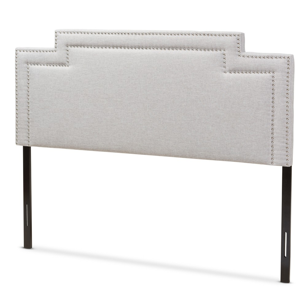 Casey Modern and Contemporary Fabric Headboard King Gray - Baxton Studio, Beige Gray