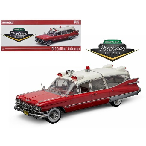 1959 Cadillac Ambulance Red and White Precision Collection 1/18 Diecast Model Car  by Greenlight - image 1 of 1