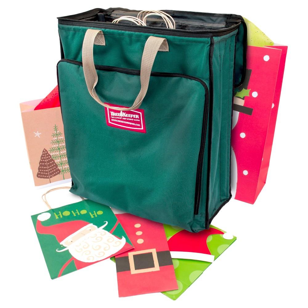 TreeKeeper Gift Wrap Supplies Storage Bag, Green