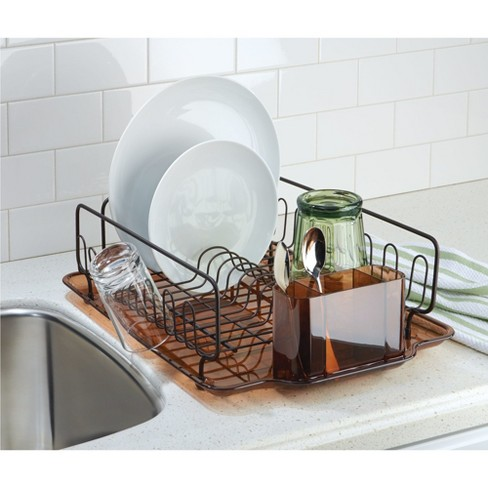 e65cd1a22e9d InterDesign Forma Lupe Dish Drainer Large Bronze : Target