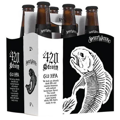 SweetWater 420 Strain G13 IPA Beer - 6pk/12 fl oz Cans