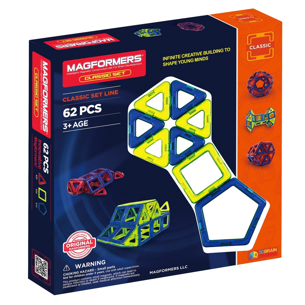 Magformers Magnetic Building Classic Set - 62 Pc