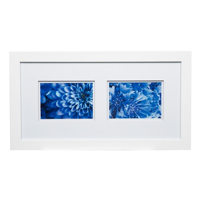 Multiple Image 10X20 Wide  Double Mat White 2-5X7 Frame - Gallery Solutions